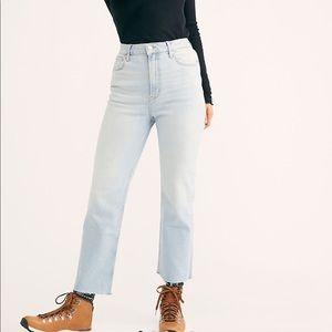 Free People High Slim Straight Leg Jeans